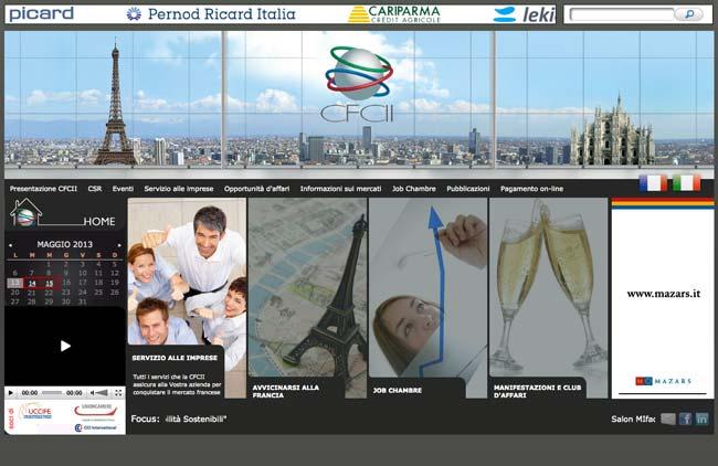 Chambre Française de Commerce et d'Industrie en Italie :: Sviluppo sito web