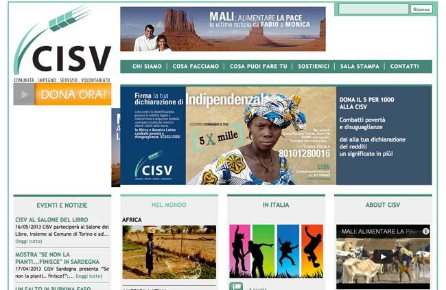 Cisv Torino :: Sviluppo sito web, SEO, Gestione newsletter