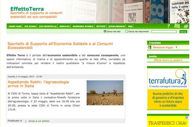 Effetto Terra :: Sviluppo sito web, SEO, Gestione Newsletter, Web content