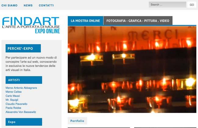 Expo Findart :: Sviluppo sito web, Web content