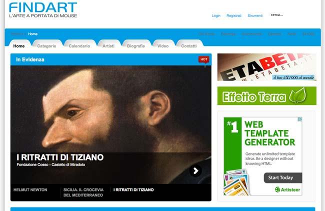 Findart :: Sviluppo sito web, Gestione Newsletter, Web content, Social media, SEO, Area riservata