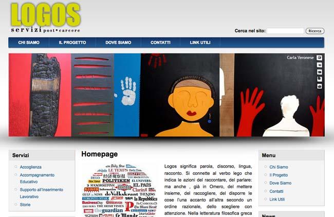 Progetto Logos :: Sviluppo sito web, Area Riservata, Web content