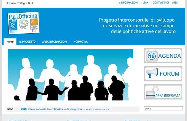P.A.L. Officina :: Sviluppo sito web, Area riservata