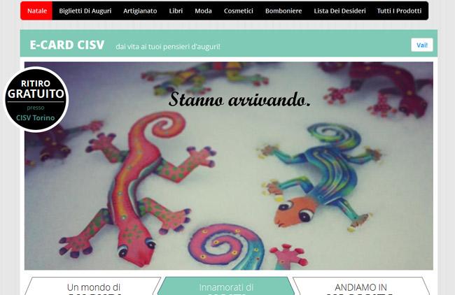 REGALI SOLIDALI - CISV Torino :: Sviluppo piattaforma e-commerce web, Gestione Newsletter