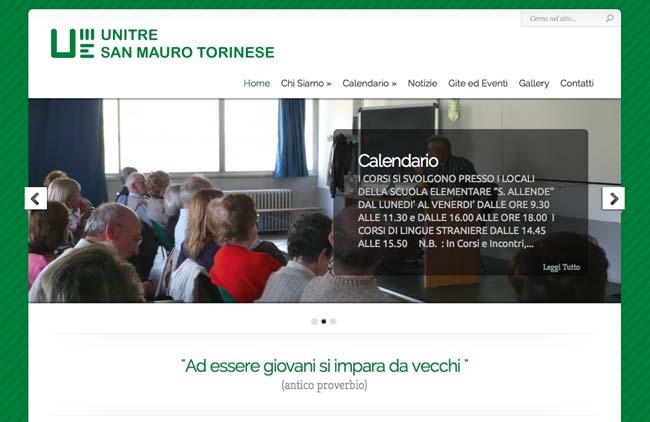 Unitre San MAuro Torinese :: Sviluppo sito web